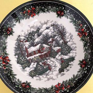 Beautiful Winter Themed Soup Bowl